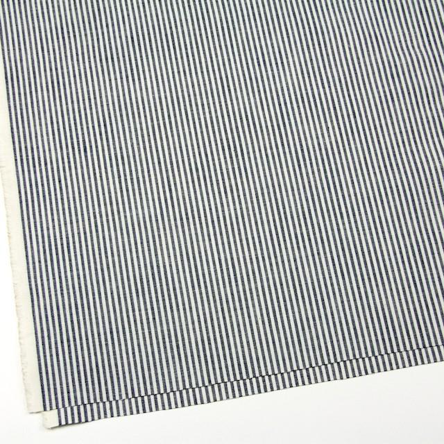 コットン&リネン×ストライプ(ネイビー)×キャンバス イメージ2