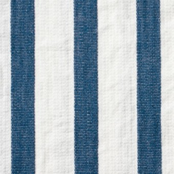 コットン×ストライプ(ブルーグレー)×二重織