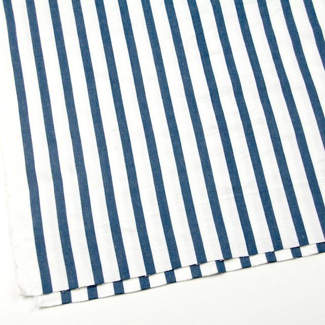 コットン×ストライプ(ブルーグレー)×二重織 イメージ2