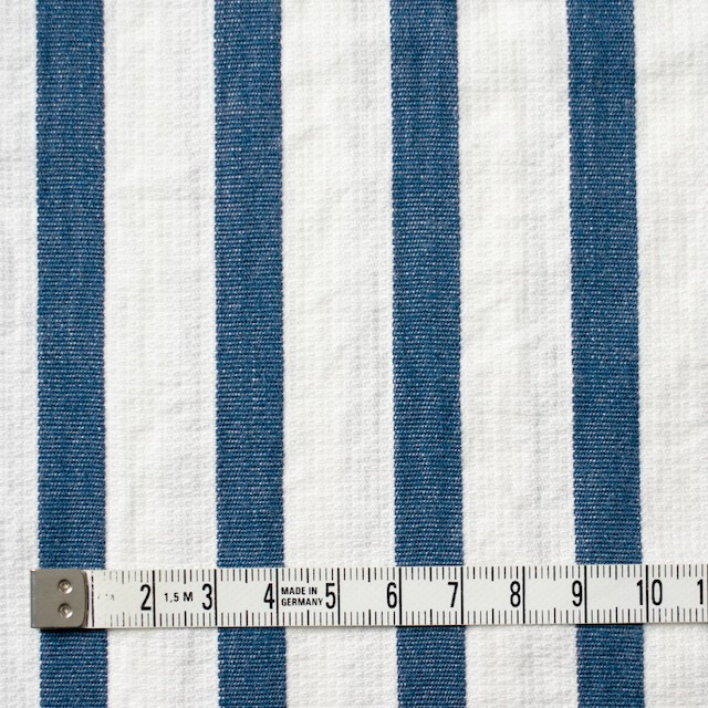 コットン×ストライプ(ブルーグレー)×二重織 イメージ4