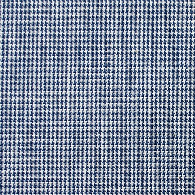 コットン×チェック(ネイビーブルー)×千鳥格子 イメージ1