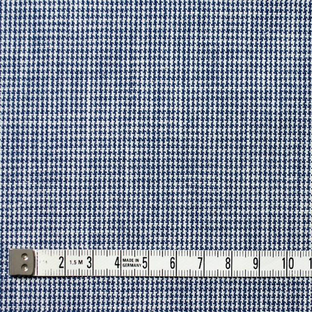コットン×チェック(ネイビーブルー)×千鳥格子 イメージ4