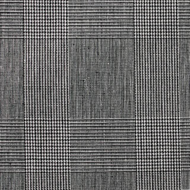 コットン×チェック(チャコールグレー)×ブロード イメージ1