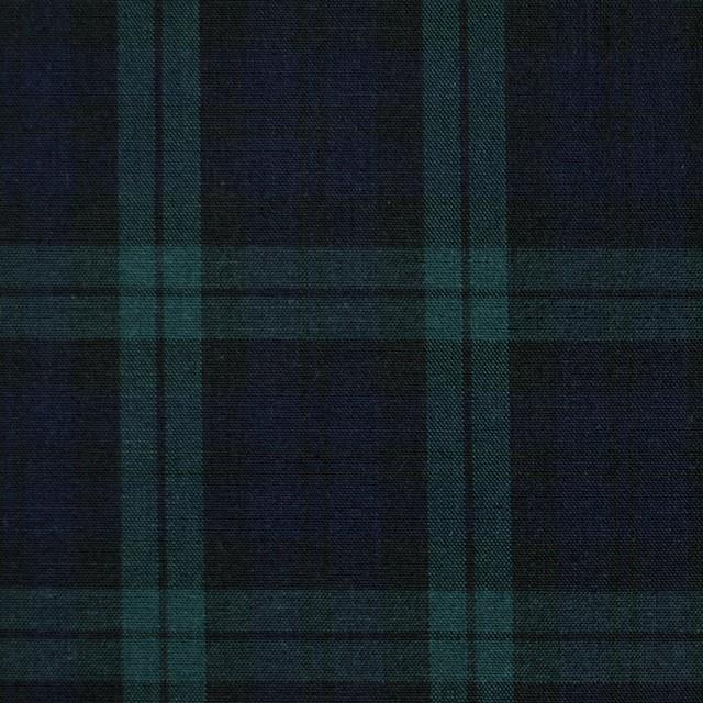 コットン×チェック(ブラックウォッチ)×ブロード イメージ1