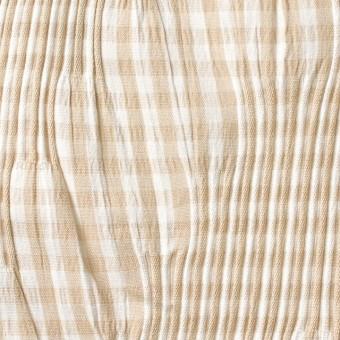 コットン&ナイロン混×チェック(ベージュ)×タテタック_全2色