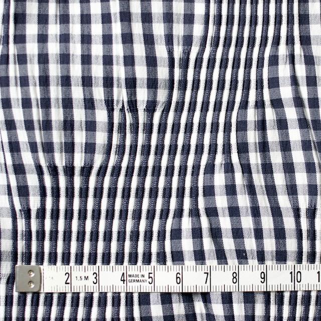 コットン&ナイロン混×チェック(ネイビー)×タテタック_全2色 イメージ4