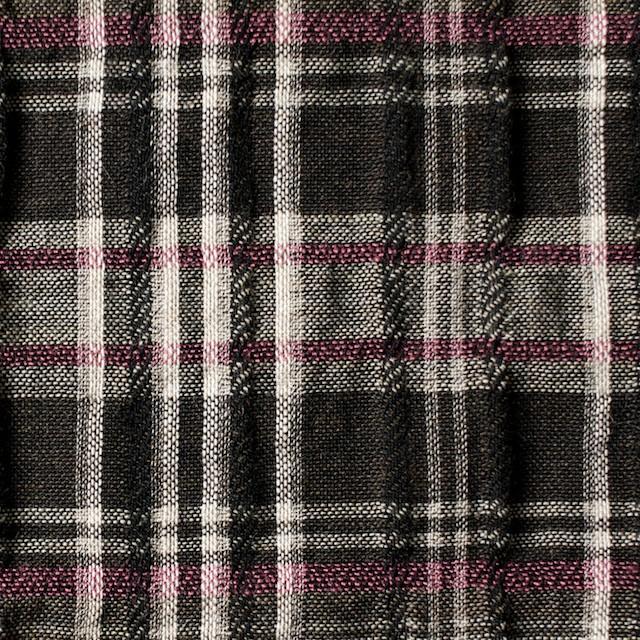 コットン&リネン×チェック(ピンク&ブラウン)×ガーゼ・タテタック_全2色 イメージ1