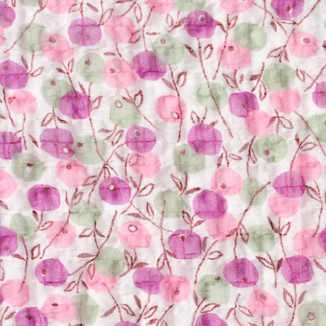 ポリエステル×フラワー(ピンクミックス)×シフォン・ジョーゼット_全3色 イメージ1