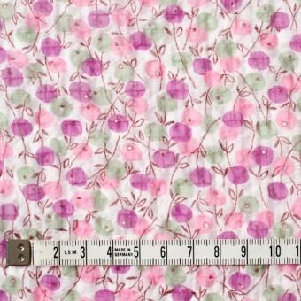 ポリエステル×フラワー(ピンクミックス)×シフォン・ジョーゼット_全3色 サムネイル4