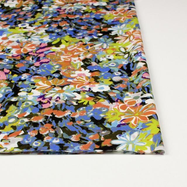 コットン×フラワー(オーカー&サルビアブルー)×天竺ニット_全3色 イメージ3