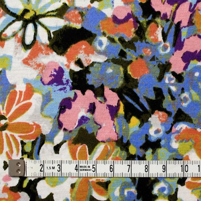 コットン×フラワー(オーカー&サルビアブルー)×天竺ニット_全3色 イメージ4