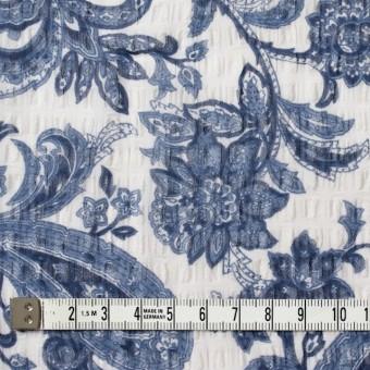 ポリエステル×ペイズリー(ブルー)×シフォン・ジョーゼット_全2色 サムネイル4