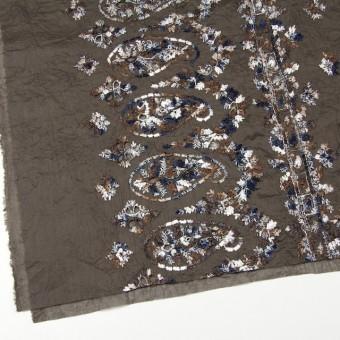 コットン×ペイズリー(ブラウン)×ボイル刺繍_全2色 サムネイル2