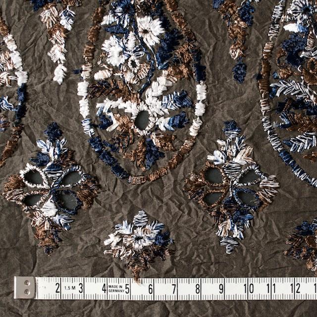 コットン×ペイズリー(ブラウン)×ボイル刺繍_全2色 イメージ4