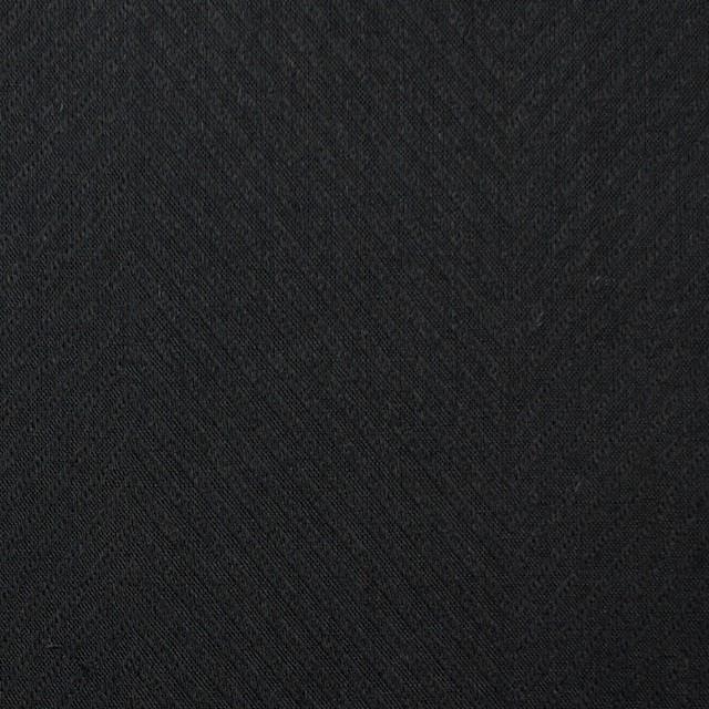 コットン×無地(ブラック)×ボイルジャガード_全6色 イメージ1