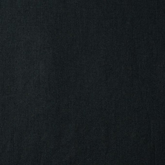 コットン&リネン×無地(ブラック)×薄サージ_全3色