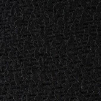 シルク×無地(ブラック)×ふくれ織ジャガード