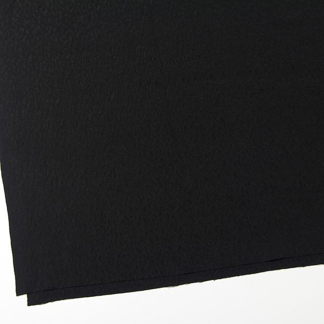 シルク×無地(ブラック)×ふくれ織ジャガード イメージ2
