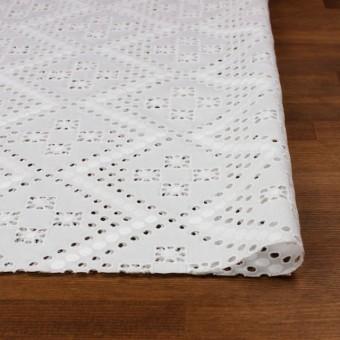 コットン×幾何学模様(オフホワイト)×ピケ刺繍 サムネイル3
