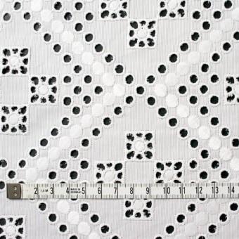 コットン×幾何学模様(オフホワイト)×ピケ刺繍 サムネイル4