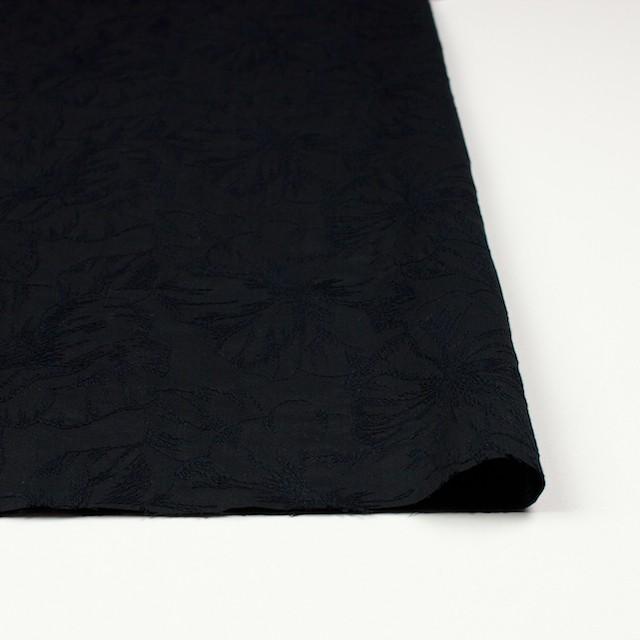 コットン×フラワー(ブラック)×ローン刺繍 イメージ3