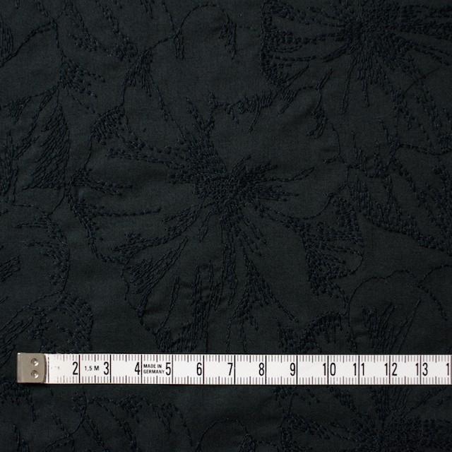 コットン×フラワー(ブラック)×ローン刺繍 イメージ4