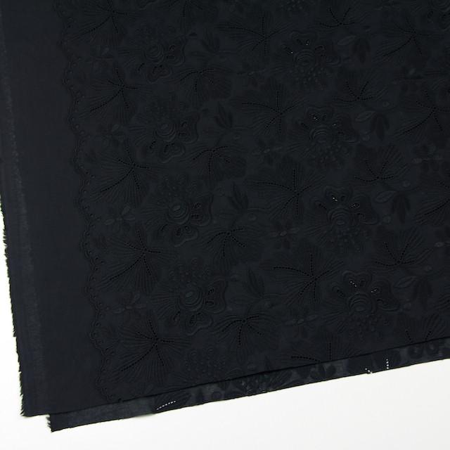 コットン×フラワー(ブラック)×ボイル刺繍 イメージ2