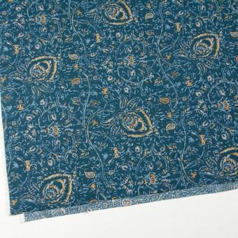 コットン&リネン×更紗(オールドブルー)×シーチング_全4色 サムネイル2
