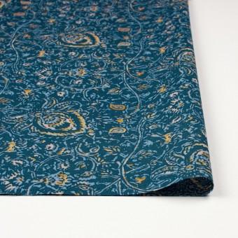 コットン&リネン×更紗(オールドブルー)×シーチング_全4色 サムネイル3