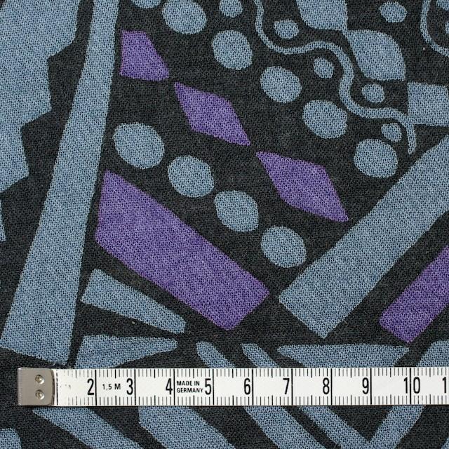 コットン×幾何学模様(ブルーグレー&パープル)×ガーゼ_全3色 イメージ4