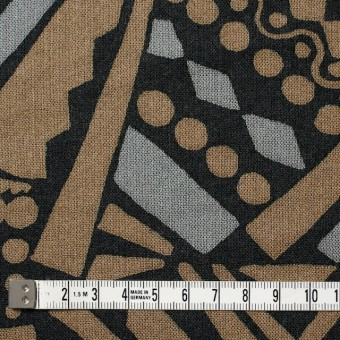 コットン×幾何学模様(モカ&グレー)×ガーゼ_全3色 サムネイル4