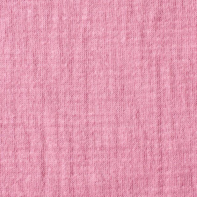 コットン×無地(ピンク)×Wニット_全6色(シリーズ1) イメージ1