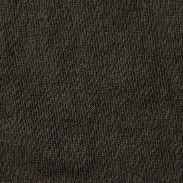 コットン×無地(オリーブブラウン)×Wニット_全4色(シリーズ2) イメージ1