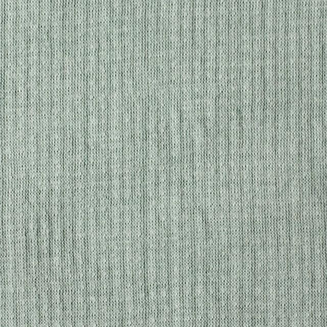 コットン×無地(セージグリーン)×Wニット_全5色(シリーズ3) イメージ1