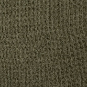 コットン×無地(カーキグリーン)×Wニット_全5色(シリーズ3)