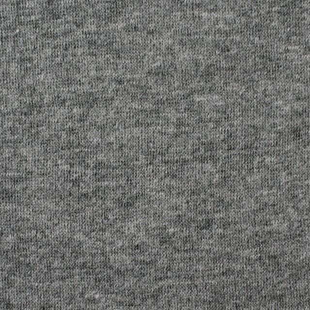 コットン×無地(杢グレー)×Wニット_全6色(シリーズ4) イメージ1