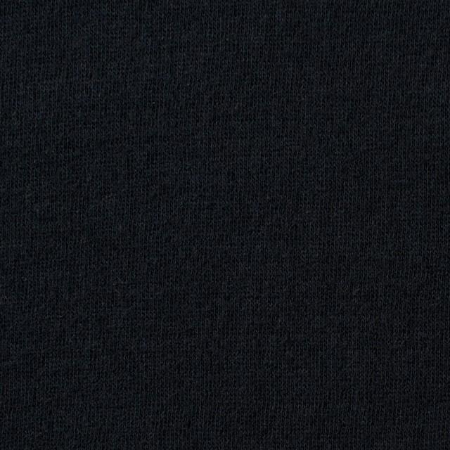 コットン×無地(ブラック)×Wニット_全6色(シリーズ4) イメージ1