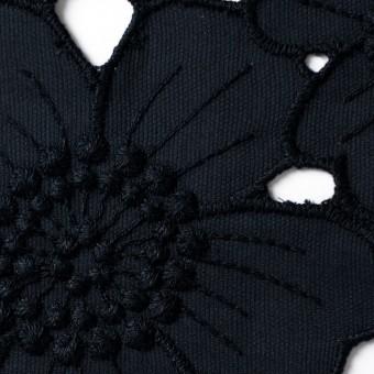 コットン×フラワー(ネイビー)×ピケ刺繍_全2色 サムネイル1