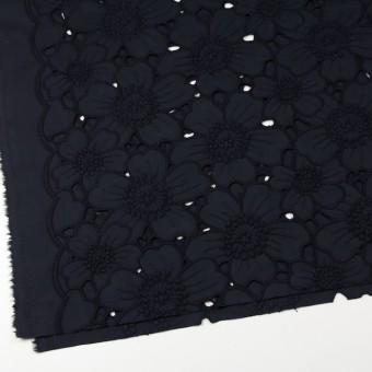 コットン×フラワー(ネイビー)×ピケ刺繍_全2色 サムネイル2