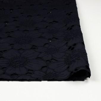 コットン×フラワー(ネイビー)×ピケ刺繍_全2色 サムネイル3