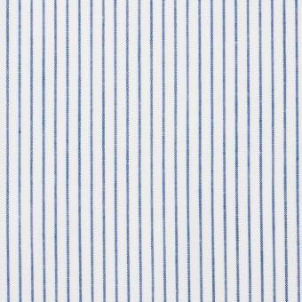 コットン×ストライプ(ブルー)×ブロード