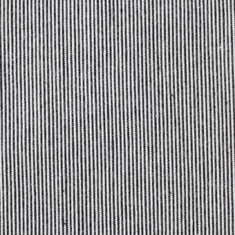 コットン×ストライプ(チャコールブラック)×コードレーン サムネイル1