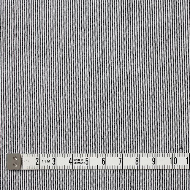 コットン×ストライプ(チャコールブラック)×コードレーン イメージ4