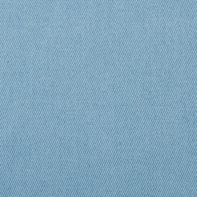 コットン&ポリウレタン×無地(サックス)×チノクロス・ストレッチ イメージ1
