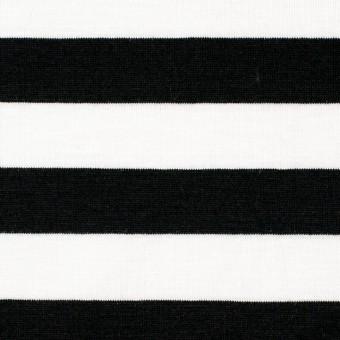 コットン×ボーダー(ホワイト&ブラック)×天竺ニット_全3色 サムネイル1