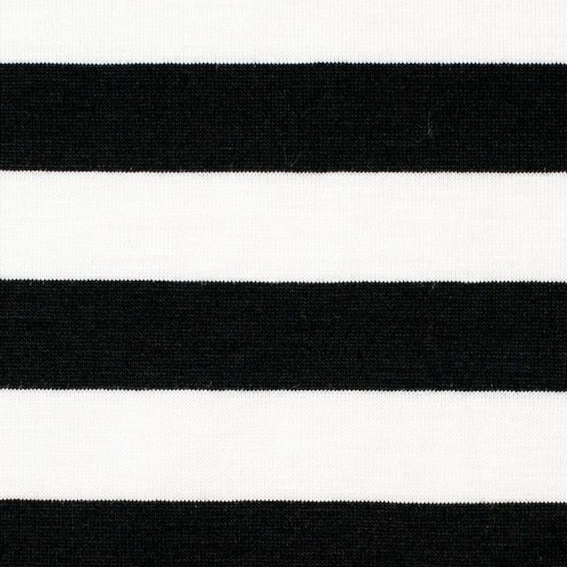 コットン×ボーダー(ホワイト&ブラック)×天竺ニット_全3色 イメージ1