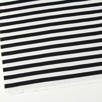 コットン×ボーダー(ホワイト&ブラック)×天竺ニット_全3色 サムネイル2
