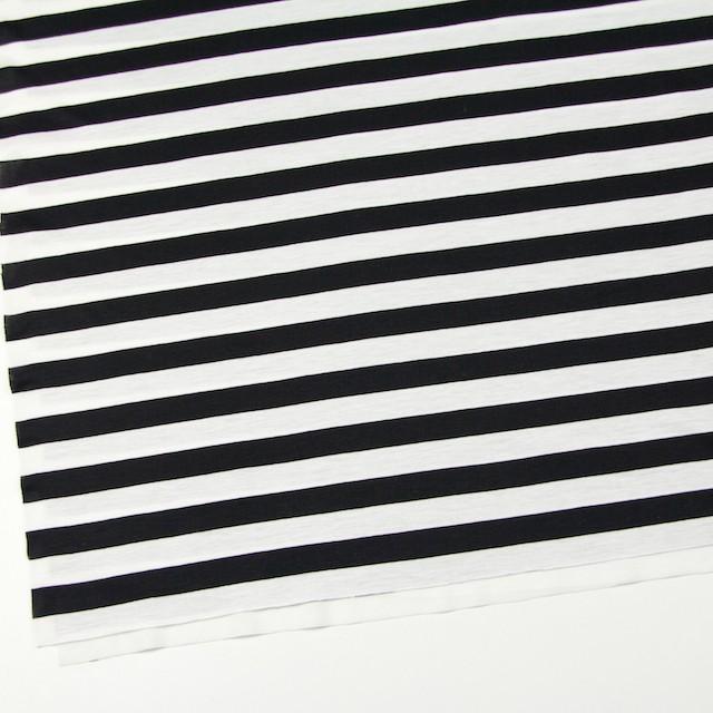 コットン×ボーダー(ホワイト&ブラック)×天竺ニット_全3色 イメージ2