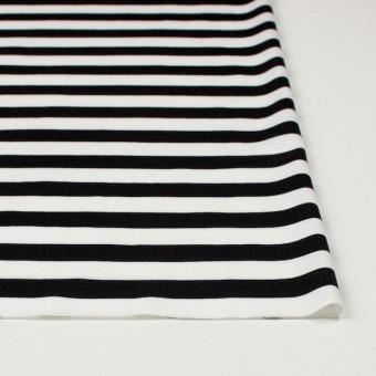 コットン×ボーダー(ホワイト&ブラック)×天竺ニット_全3色 サムネイル3