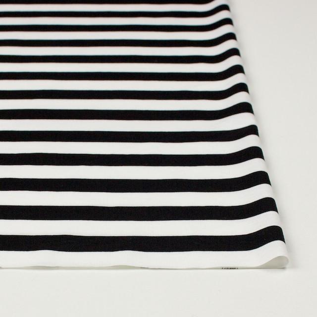 コットン×ボーダー(ホワイト&ブラック)×天竺ニット_全3色 イメージ3